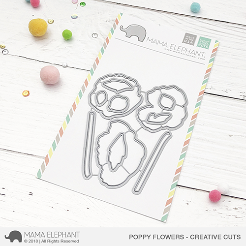 Mama Elephant Poppy Flowers Creative Cuts