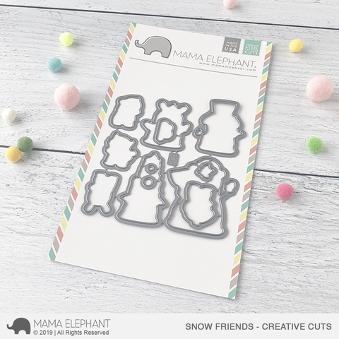 Mama Elephant Snow Friends Creative Cuts