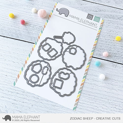Mama Elephant Zodiac Sheep Creative Cuts