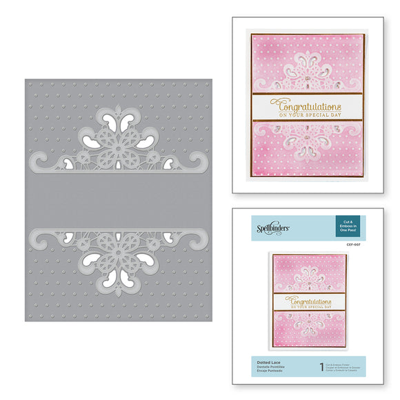 CEF-007 Dotted Lace Cut & Emboss Folder