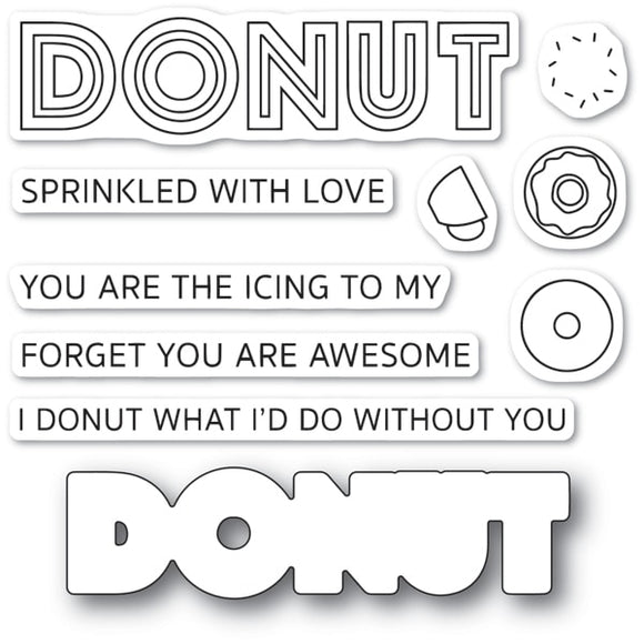 CL475 Donut What I d Do clear stamp set