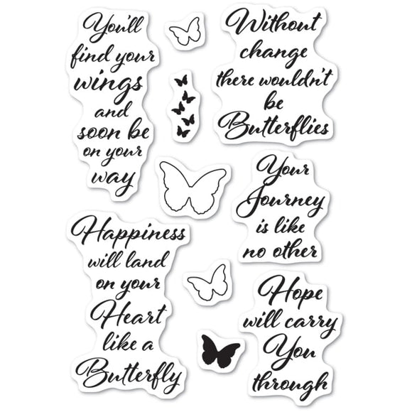 CL481 Butterfly Greetings clear stamps