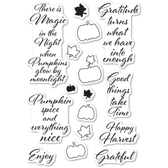 CL486 Pumpkin Patch clear stamp set