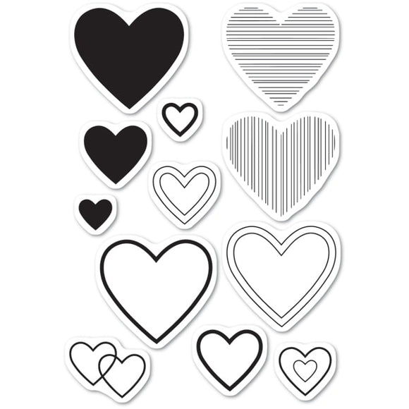 CL5238 Have a Heart clear stamp set