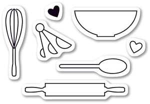 CLF101 Baking Tools clear stamp set
