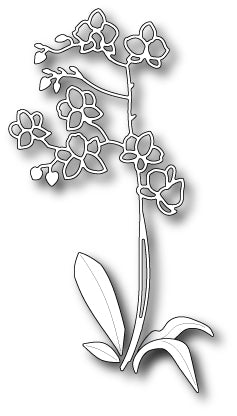 D108 Lovely Orchid Stem craft die