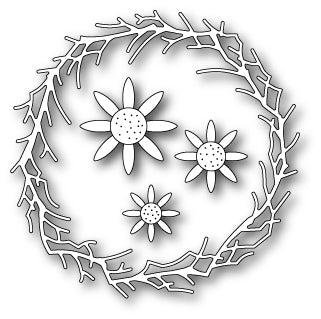 D122 Sunflower Wreath craft die