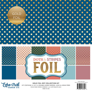 Dots & Stripes Foil 12x12 Paper Pack