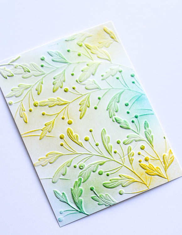 EF1002 Gracious Leaves 3D Embossing Folder