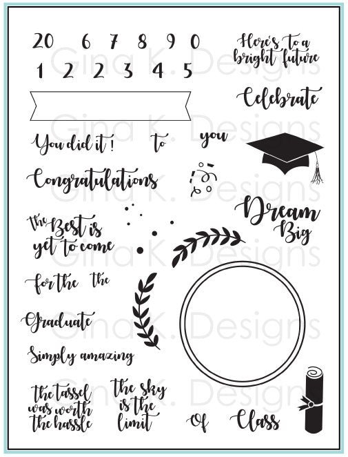 For The Grad Clear Stamps