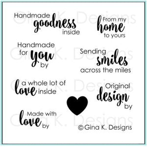 Handmade Goodness Mini Clear Stamps