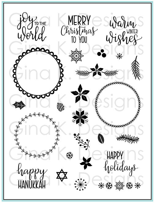 Holiday Wreath Builder Clear Stamps