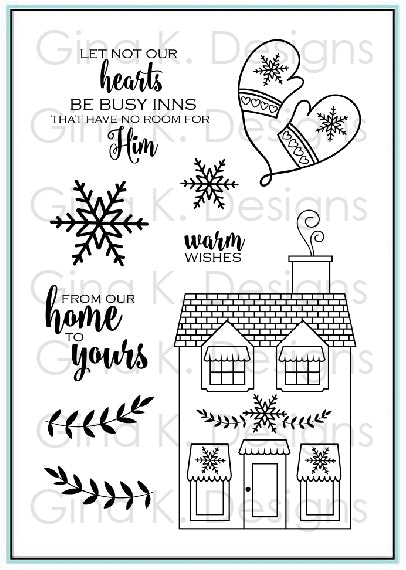 Home for the Holidays Clear Stamp
