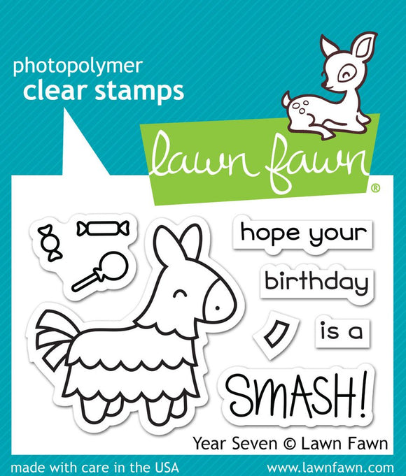 LF1338 Year Seven Clear Stamp Set
