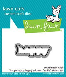 LF1586 Happy Happy Happy Add-On family Lawn Cuts Dies