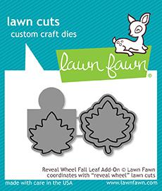 LF1793 Reveal Wheel Fall Leaf Add-On Lawn Cuts Dies