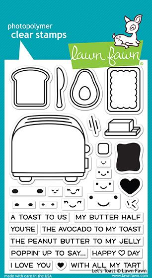 LF1820 Let's Toast Clear Stamp Set