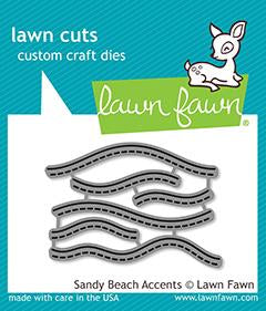 LF1980 Sandy Beach Accents Lawn Cuts Dies