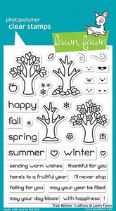 LF2018 - Tree Before 'n After Stamp Set