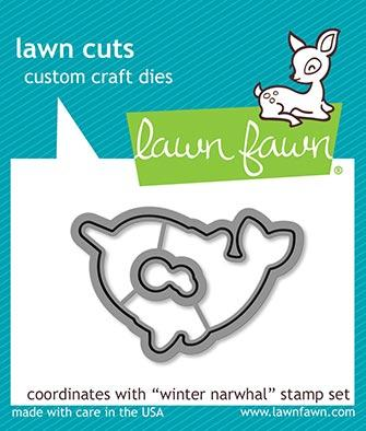 LF2039 Winter Narwhal Lawn Cuts Dies