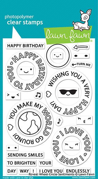 LF2225 Reveal Wheel Circle Sentiments Stamp Set