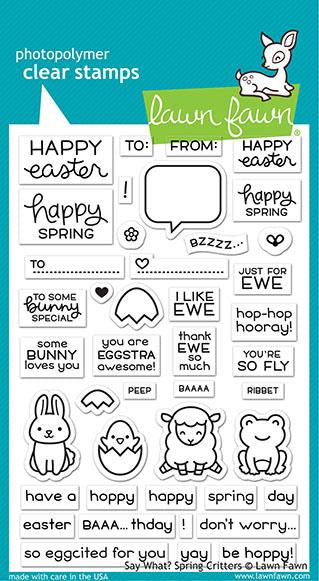 LF2228 Say What? Spring Critters Clear Stamps