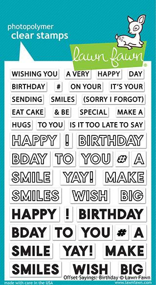 LF2235 Offset Sayings Birthday Clear Stamp Set