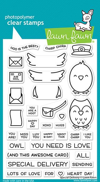 LF2466 Special Delivery Clear Stamp Set