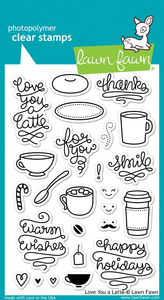 LF704 Love You a Latte Stamp Set