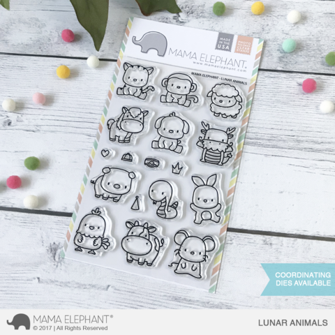 Mama Elephant Lunar Animals