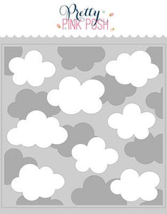 Layered Clouds Stencils (2 Pack)