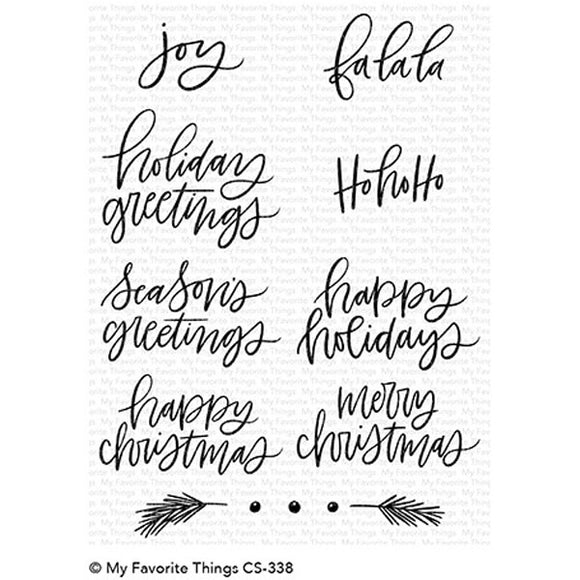 CS-338 Hand-Lettered Holiday Greetings
