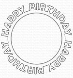 MFT-1146 Happy Birthday Circle Frame Die-namics