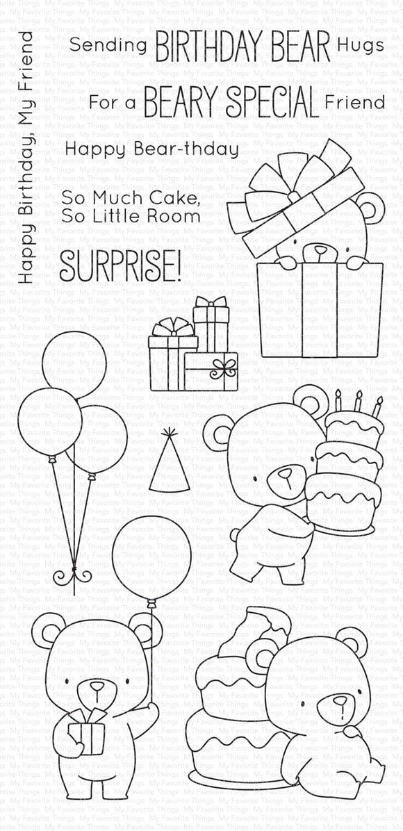 BB-36 Beary Special Birthday Stamp Set