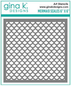 Mermaid Scales Stencil