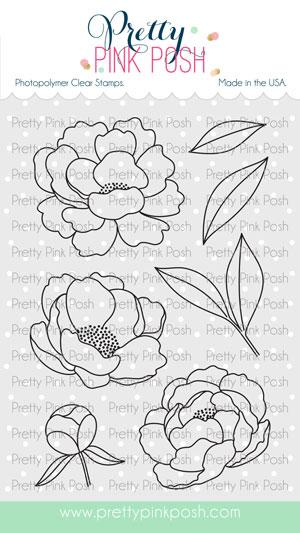 Peonies Stamp Set