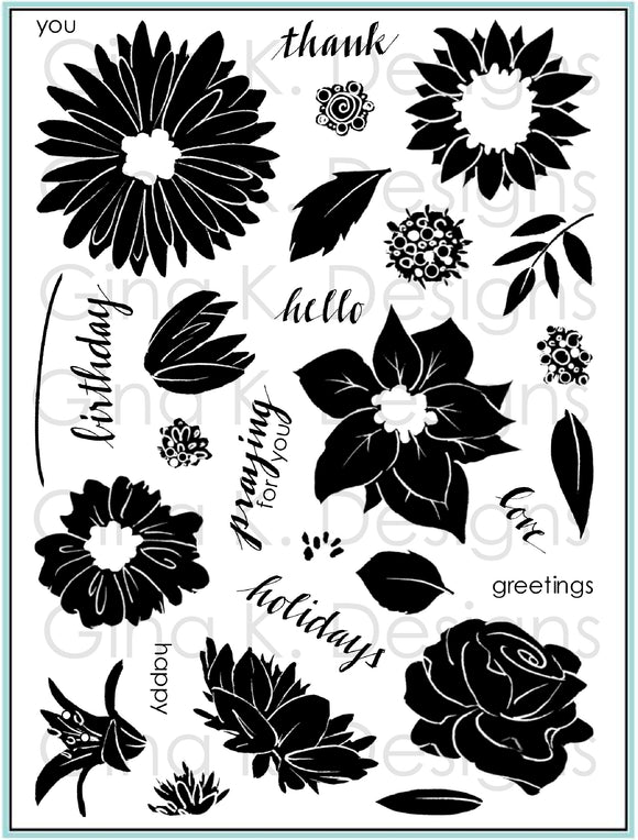 Pressed Flowers 2 Clear Stamps