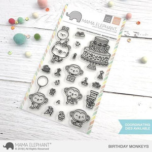 Mama Elephant Birthday Monkeys