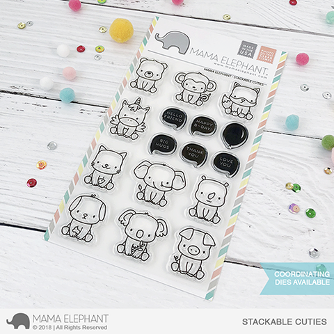 Mama Elephant Stackable Cuties