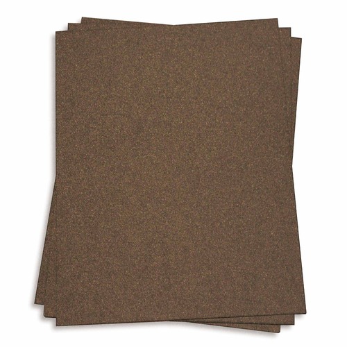 Bronze Metallic Cover Cardstock - 5 sheets Pack