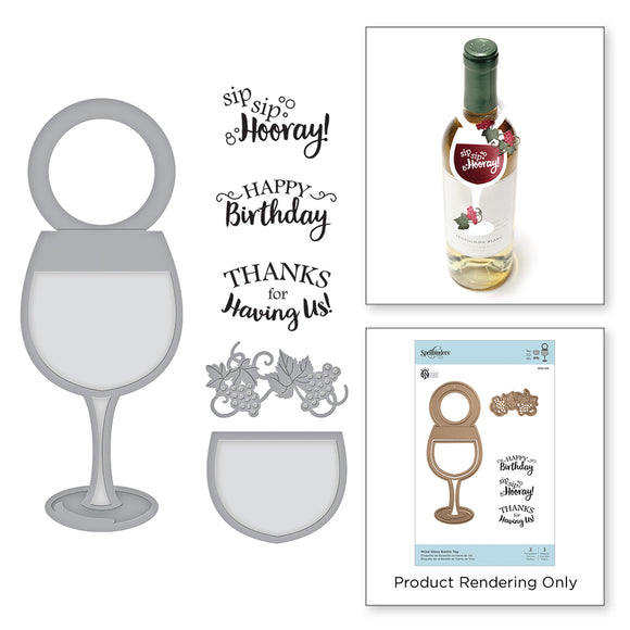 SDS-134 Wine Glass Bottle Tag