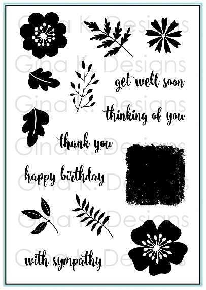 Sentimental Bouquet Clear Stamps