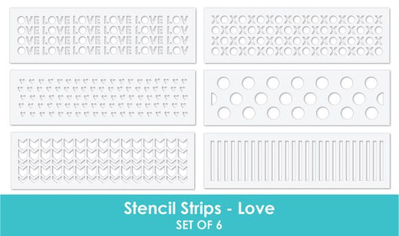 Taylored Expressions - Stencil Stripes LOVE