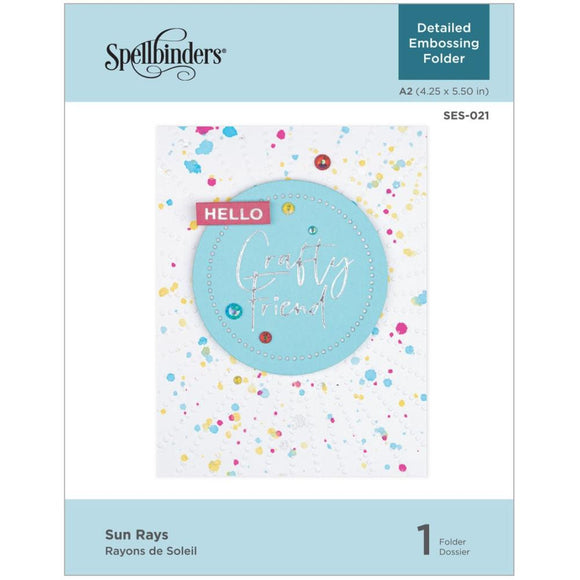 SES-021 Sun Rays Embossing Folder by Spellbinders