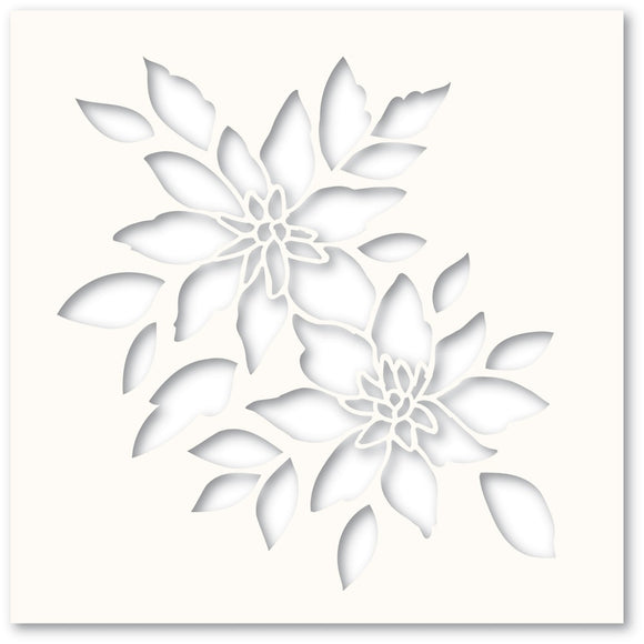 T102 Bright Blossoms Stencil