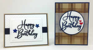 Clean and Simple Masculine Card Kit for OOAK Virtual Event on 2/20