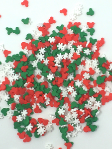 Christmas Mickey Faces Shaker Element Sprinkles