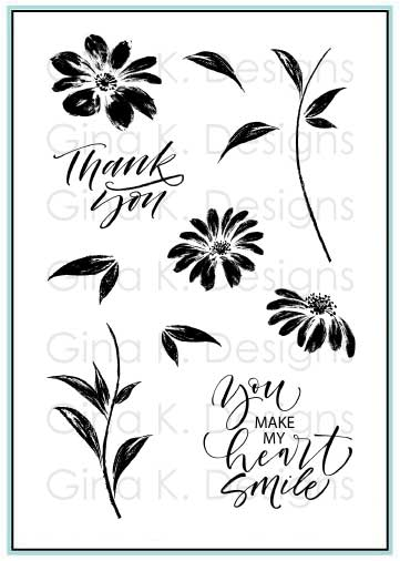 Watercolor Flowers Clear Stamps