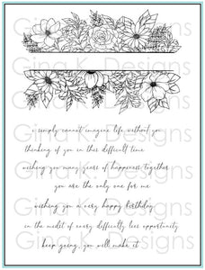 Whimsical Wildflower Frame Clear Stamps