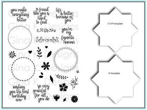 Wreath Builder Bundle Stamps & Stencils Set